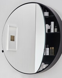 Round Box mirror - 900 x 900 x 120mm