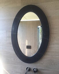 Marble Frame Oval Mirror - 915 x 610mm